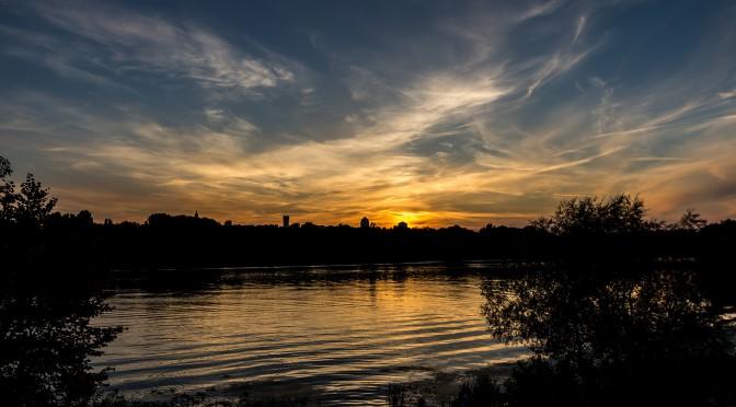 Закаты солнца в Киеве