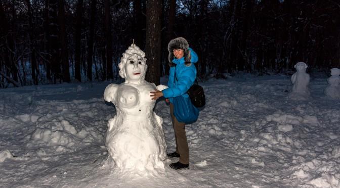 Тольяттинские новогодние снеговики