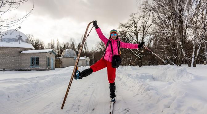 Лыжная покатушка в Голосеевском лесу. Киев, февраль 2015