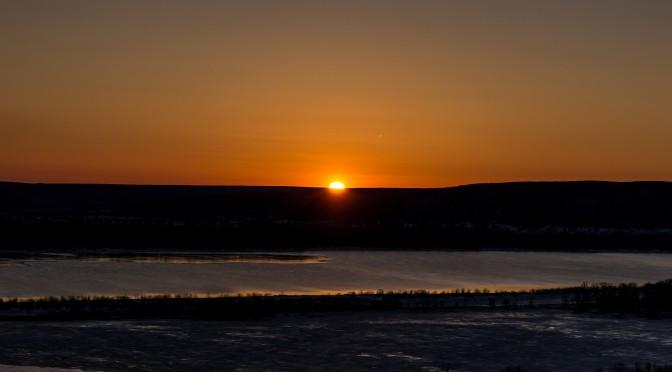 Волжские закаты с горы Барсук (Самарская область)