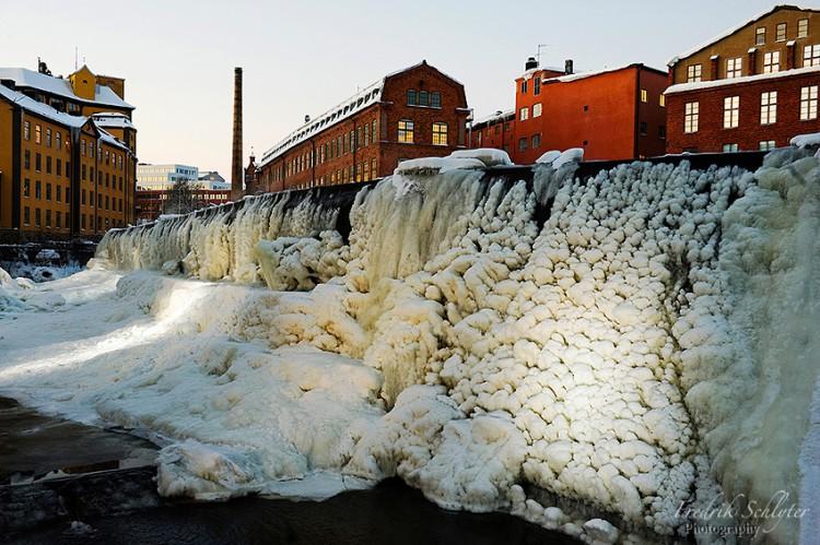 Waterfall in Norrkoping Sweden