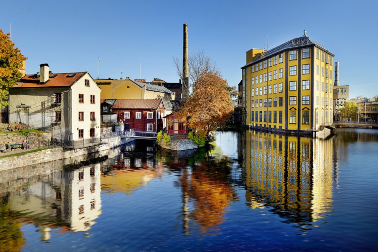 Arbetets Museum - StrykjŠrnet - sett frŒn Bergsbron šver Motala Stršm