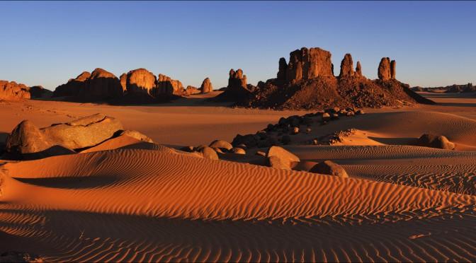 Неземные пейзажи восхитительных панорам пустыни Сахары