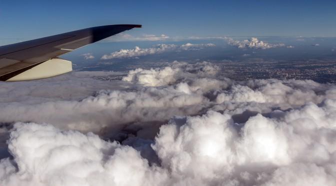 Фотосъемка из окна самолета. Маршрут Киев-Москва-Ростов