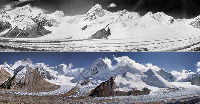 Впечатляющие изменения тающих ледников в США с 1800 по 2012 гг.