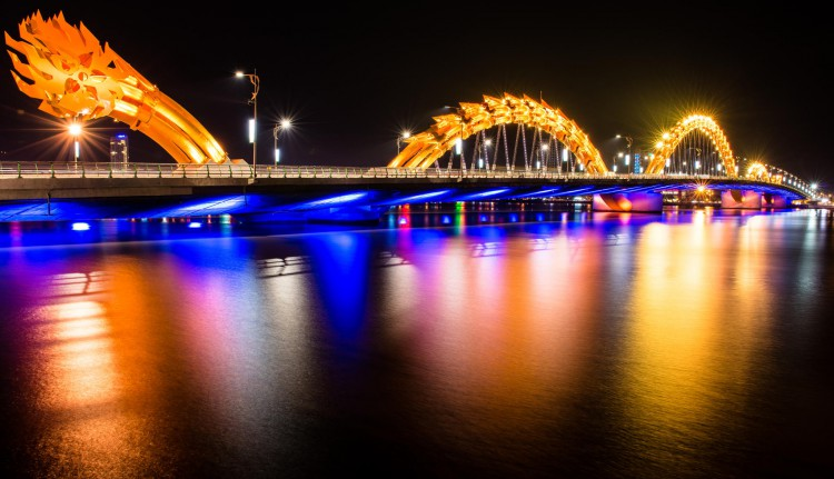 Dragon Bridge at Da Nang, Vietnam