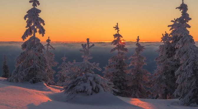 Один день в зимних Карпатах. Таймлапс-видео