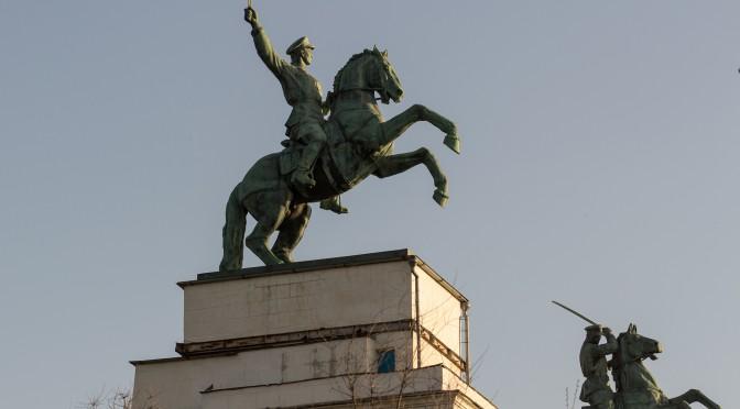 Скульптурная композиция «Казаки» в Волгодонске