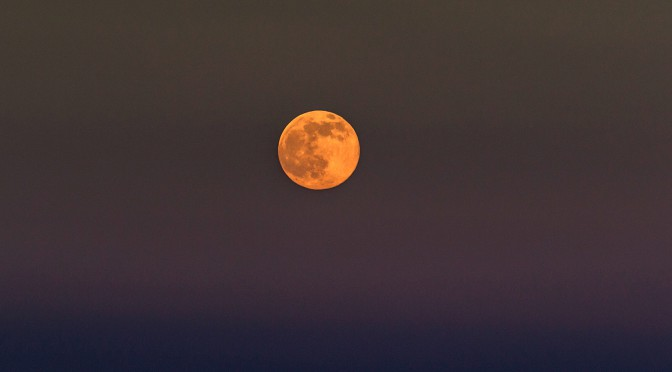Луна над Цимлянским водохранилищем