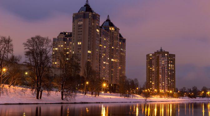 Киев ночной. Канун Нового 2018 года
